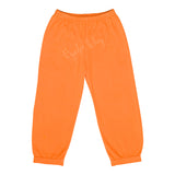 Orange Pima Knit Banded Pants