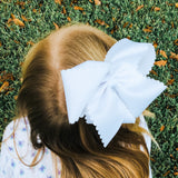 White Scallop Bow