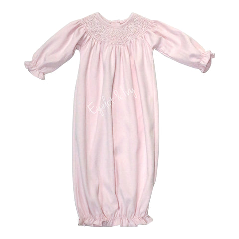 Smocked Pima Pink Bishop Daygown