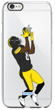 """Black and Yellow"" iPhone Clear Case"