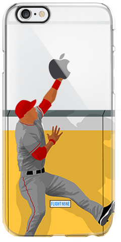 """Wall Catch"" iPhone Clear Case"