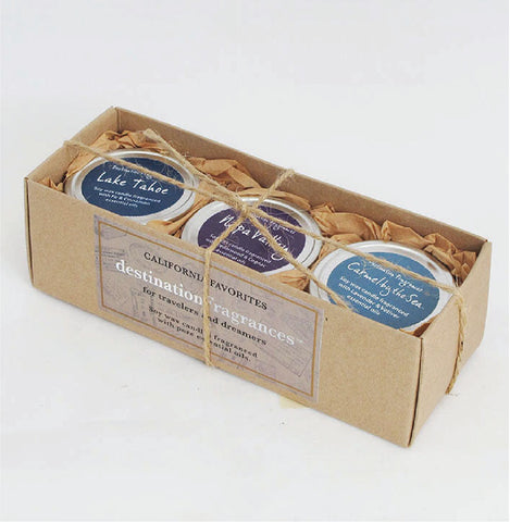 Travel Tin Candle Gift Box: California Favorites