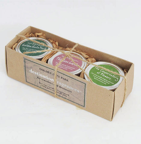Travel Tin Candle Gift Box: Golden Gate Park