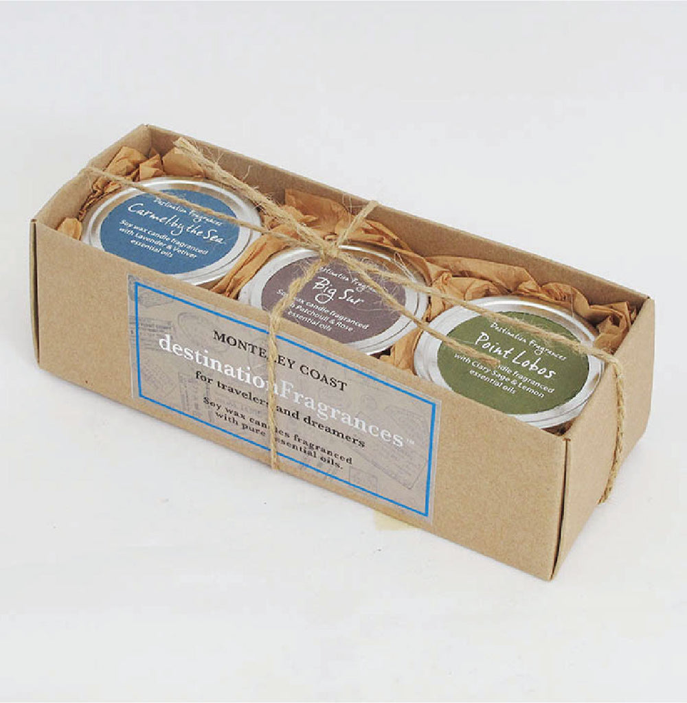 Travel Tin Candle Gift Box: Monterey Coast