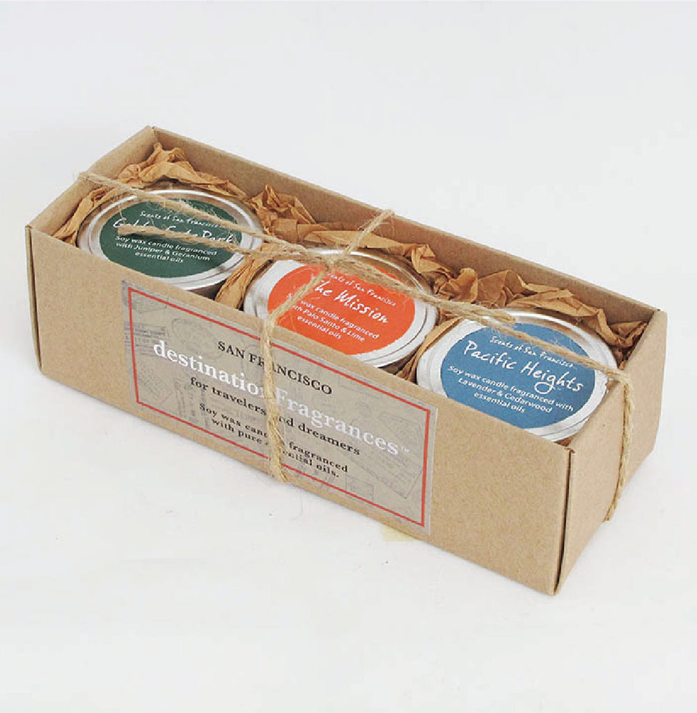 Travel Tin Candle Gift Box: San Francisco