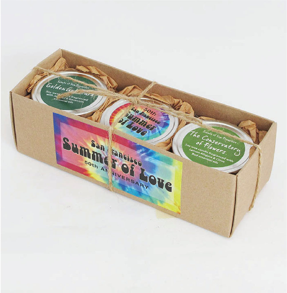Travel Tin Candle Gift Box: Summer of Love