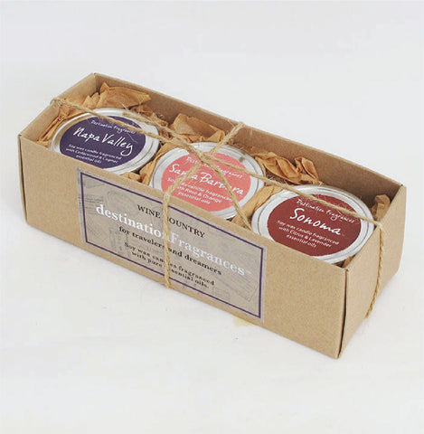 Travel Tin Candle Gift Box: Wine Country