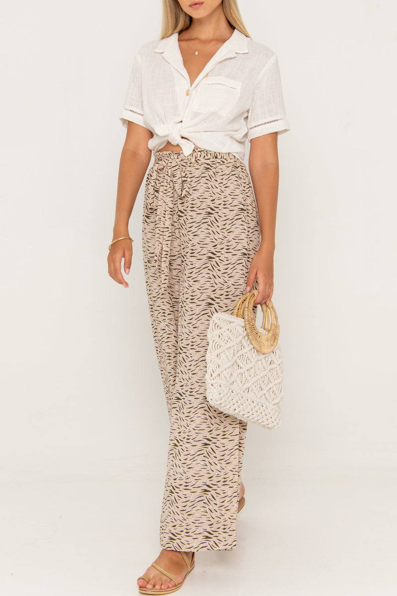 Mirror Hepburn Pant Birch - Beachgold