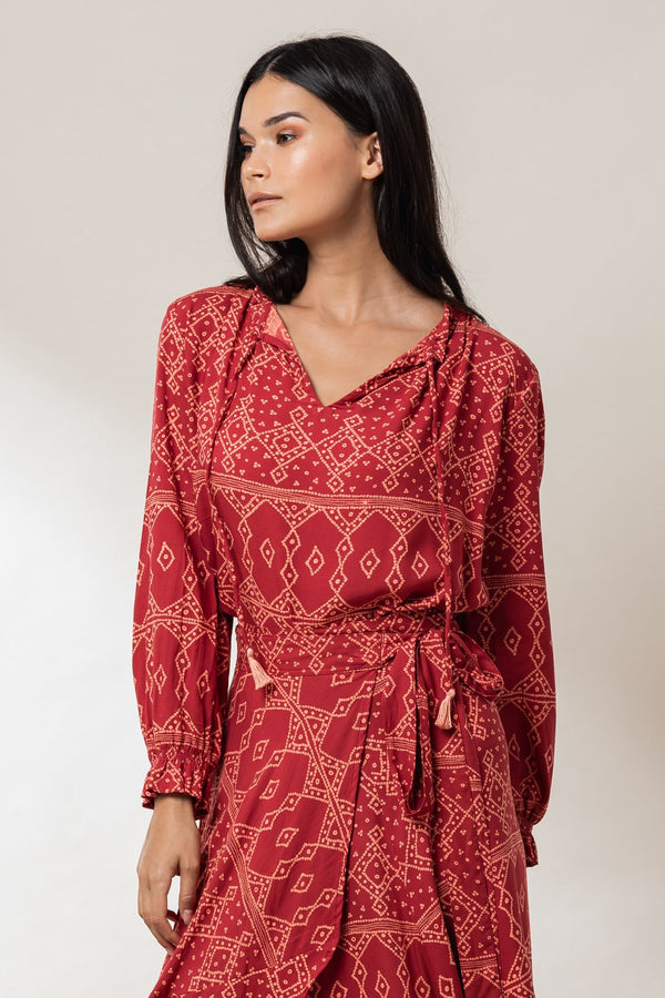 Amber Peasant Blouse - Ruby Khan