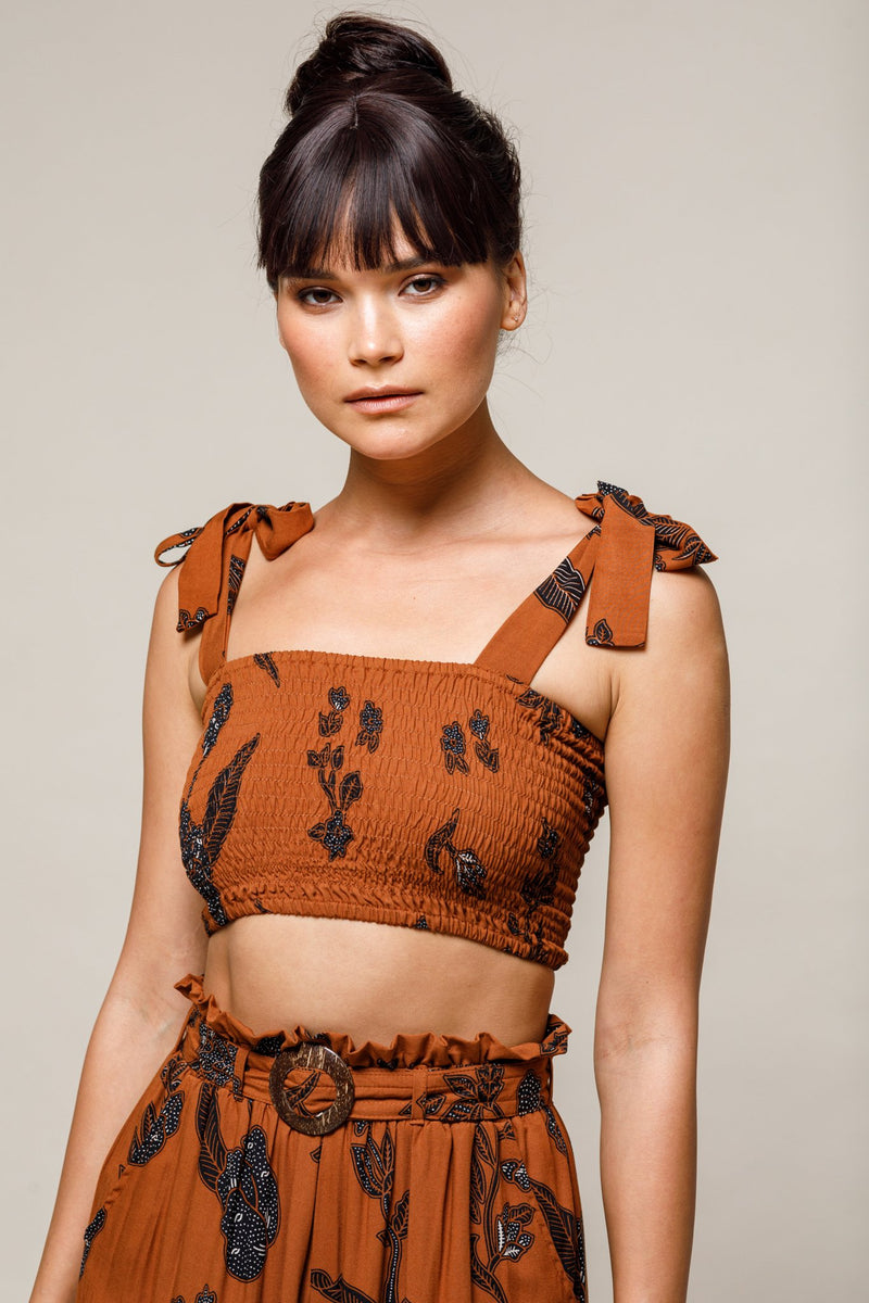 Tali Cropped Top - Batik
