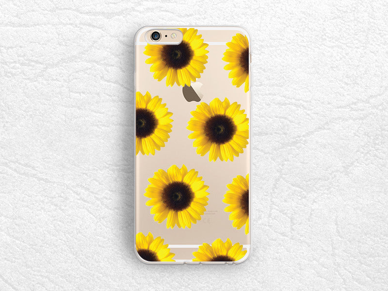 competitive price add87 d9838 Sunflowers floral Clear transparent phone case for iPhone 7, iPhone ...