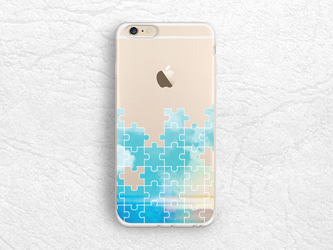 Puzzles pattern transparent phone case for iPhone 7 Plus, iPhone SE, Samsung S8 Plus, Nexus 6P, HTC 10, Sony Z5 compact, Google Pixel -A38