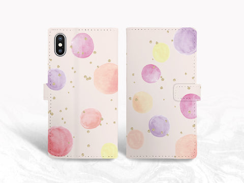 Colorful Ballons PU Leather Wallet Cover Flip Case for iPhone XS Max, iPhone 11, Samsung S9 plus, Note 20, Google Pixel 5, Pixel 4a, OnePlus 6, Nexus 5X