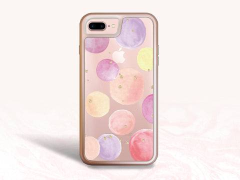 iPhone 8, iPhone 7 Protective Case, Pastel Color Art Tough Case for iPhone 7 Plus, iPhone 8 Plus, iPhone 6s Interchangeable backplate cases