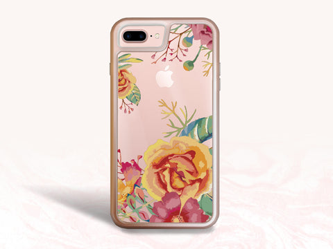 iPhone 8, iPhone 7 Protective Case, Colorful Floral Tough Case for iPhone 7 Plus, iPhone 8 Plus, iPhone 6s Interchangeable backplate cases