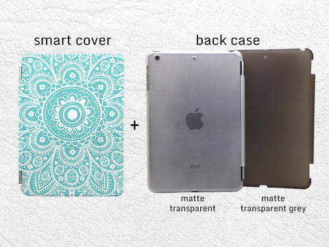 Aztec Floral pattern Smart Cover for iPad Air, iPad Air 2, iPad Pro tribal iPad Pro Smart cover with back case -P24