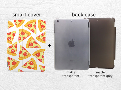 Pizza Slice Pattern Smart Cover for iPad Air, iPad Air 2, iPad Pro tablet Cute Smart cover with back case -P89
