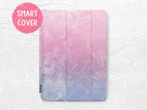 Pastel Color Pink Purple Smart Cover for iPad Air, iPad Air 2, iPad Pro tablet Smart cover with back case -X19