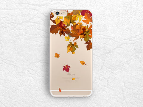 Autumn Leaves clear transparent phone case for iPhone 7, Samsung S8 Plus, Sony z5, HTC one M9, LG G6, Nexus 5X, Nexus 6P, Google Pixel -A46