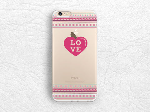 LOVE pink heart Clear transparent case for iPhone 7, Samsung S7 S8, Sony Z5 compact, Xperia XZ, LG G5, Nexus 5X, Nexus 6p, Google Pixel -A50