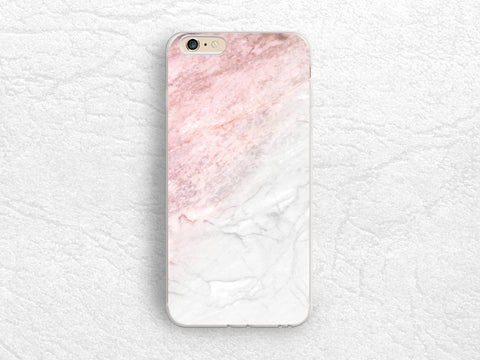 Pink Gray Marble Print phone case for iPhone X, iPhone 8, Google Pixel 2 XL, Samsung S7, S8, LG G6, Nexus 5X, Nexus 6P, HTC One M9 - X30