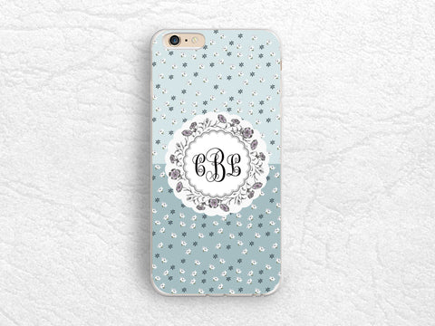 brand new 2e3fb 9486c Vintage Floral flowers Monogram Phone Case for iPhone X, iPhone 8 ...
