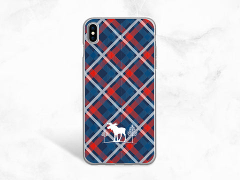 Christmas Deers phone case for iPhone X, iPhone 8, Google Pixel 2 XL, Samsung S8 Plus, Note 8, Nexus 5X, Nexus 6P, XMAS holiday case -P113