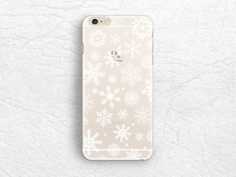 Christmas Snowflakes Clear transparent phone case for iPhone 6s