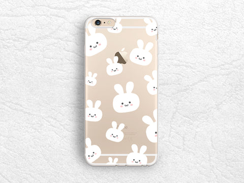 iPhone 7 Case, Cute Rabbit Bunny Transparent Clear Case for, Sony Z5 compact, Samsung S8, Nexus 6p, Google Pixel, Nexus 5X, HTC One M9 -P83