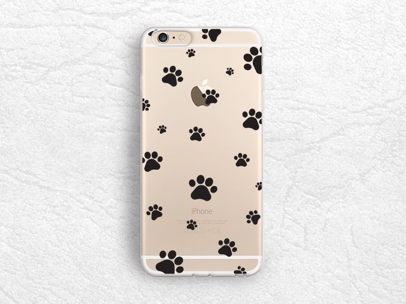 Cute Pet Paw Prints Transparent Case For Iphone 6s Iphone 7