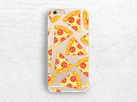 Cute Pizza Slice transparent case for iPhone 7, iPhone SE, Samsung S6, S7 Edge, Sony Z5 compact, LG G4, G5, Nexus 5X, Nexus 6p, HTC 10 -P89