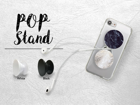 Marble Print Pop Stand | Pop Stand for phone with car mount car holder | Phone Grip | Expanding Phone Stand Grippers | Earphone holder