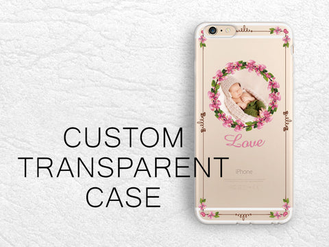 Baby Shower gift, Personalized Custom Photo case for iPhone 8 Plus, Google Pixel 2 XL, Samsung S8, Nexus 6P, HTC One M9, LG G6, Nexus 5X