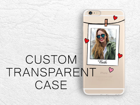 Photo Frame Custom photo transparent case for iPhone X, Samsung S9 Plus, LG G6, Nexus 5X, Nexus 6P, Google Pixel 2 XL, personalized design