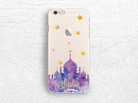 Castle Custom name Personalized clear transparent phone case for iPhone X, iPhone 8, LG G6, Nexus 5x, Google Pixel 2 XL, Samsung S9, S8 Plus, Note8