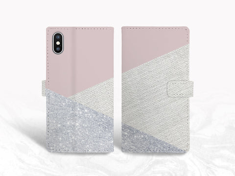 Weave Fabric Pattern PU Leather Wallet Cover Flip Case for iPhone X, iPhone 8, Samsung S9, Note 9, Google Pixel 2 XL, LG G7, Nexus 5X -X31
