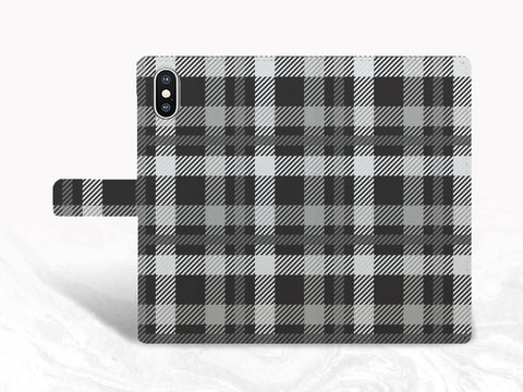 Men Style Checkered PU Leather Wallet Cover Flip Case for iPhone XS, iPhone 11, Samsung S9 plus, Note 9, Note 20, Google Pixel 4a, Pixel 3 XL, LG G7, Nexus 5X