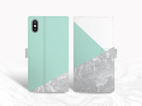 Marble Print PU Leather Wallet Cover Flip Case for iPhone 11, iPhone XS Max, Samsung S20, Note 9, Google Pixel 4, LG V50, OnePlus 6, nexus 5X
