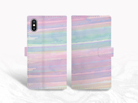 Colorful Pattern PU Leather Wallet Cover Flip Case for iPhone X, iPhone 11 Pro, Samsung S20, Note 10, Note 20, Google Pixel 3a, Pixel 5 XL, LG G8, Nexus 5X
