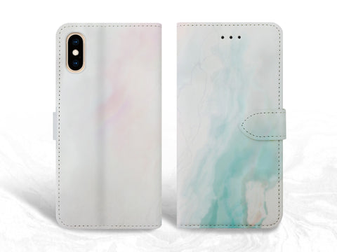 Marble print PU Leather Wallet Cover Flip case for iPhone XS Max, iPhone 11, Samsung S10 plus, Note 20, Google Pixel 3a, Pixel 5 XL, OnePlus 6