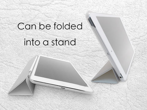 Folded into a Stand