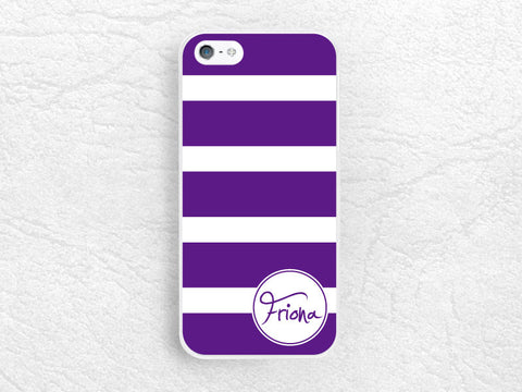 Monogram case for iPhone 6 6 Plus, 5 5s 5c, sony z1 z2 z3 compact, LG g2 g3 nexus 5, Samsung S5 phone cover, Striped with personalized name