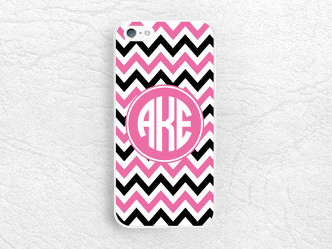 Chevron Monogram Phone Case for iPhone 6, Sony z1 z2 z3 compact, LG g2 g3 nexus 5, Moto G G2 Moto X X2, custom case with personalized name