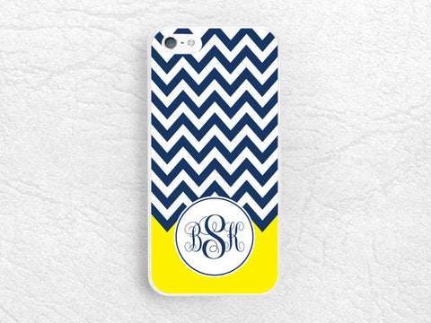 Chevron Monogram Name Phone Case for iPhone 6 iPhone 5 5c, Sony z1 z2 z3 compact, Samsung note 4, Nokia Monogram Case with personalized name
