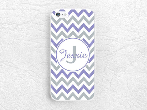 Chevron ZigZag Monogram Initial Phone Case for iPhone 6 5 4, Sony z1 z2 z3 compact, LG G2 G3 nexus 5 Custom Case made with personalized name