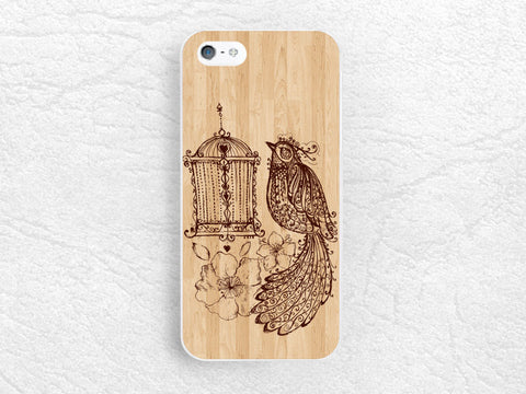 Fancy bird Wood print Phone Case for iPhone 6, iPhone 5 5s 4 4s 5c, Sony z1 z3 compact, LG g3 g2 nexus 6, Samsung note 4, Nokia lumia -S3