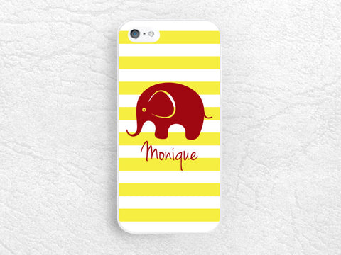 Striped Monogram Elephant phone case for Sony z1 z2 z3 compact, Moto g g2 x x2, HTC one m7 m8, Nokia lumia, personalized custom name case