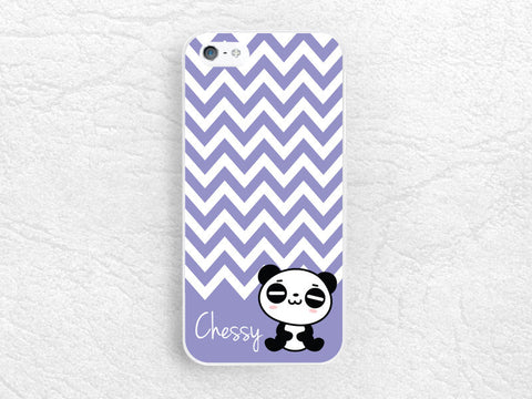 Cute Panda Monogram case for iPhone, sony z1 z2 z3 compact, LG g2 g3 nexus 5, HTC one m7 m8, Moto g Moto x, chervon with personalized name