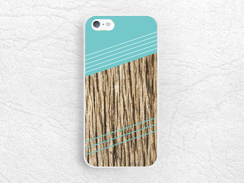 Mint Green Geometric wood print Phone Case for iPhone, Samsung, Sony z3 z1, LG nexus 6, Moto X Moto G, Tiffany Blue modern striped cover -G3