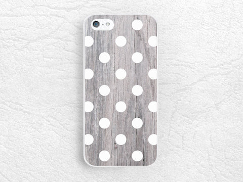 Grey wood white Polka Dots pattern wood print Phone Case for iPhone 6 iPhone 5s 5c 4 4s, Sony z1 z3 compact, LG g3 g2 nexus 5, Samsung -G6